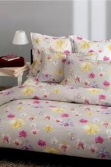 Постельное белье 2 спальное евро Mirabello Fiori di Orchidea светло-серое