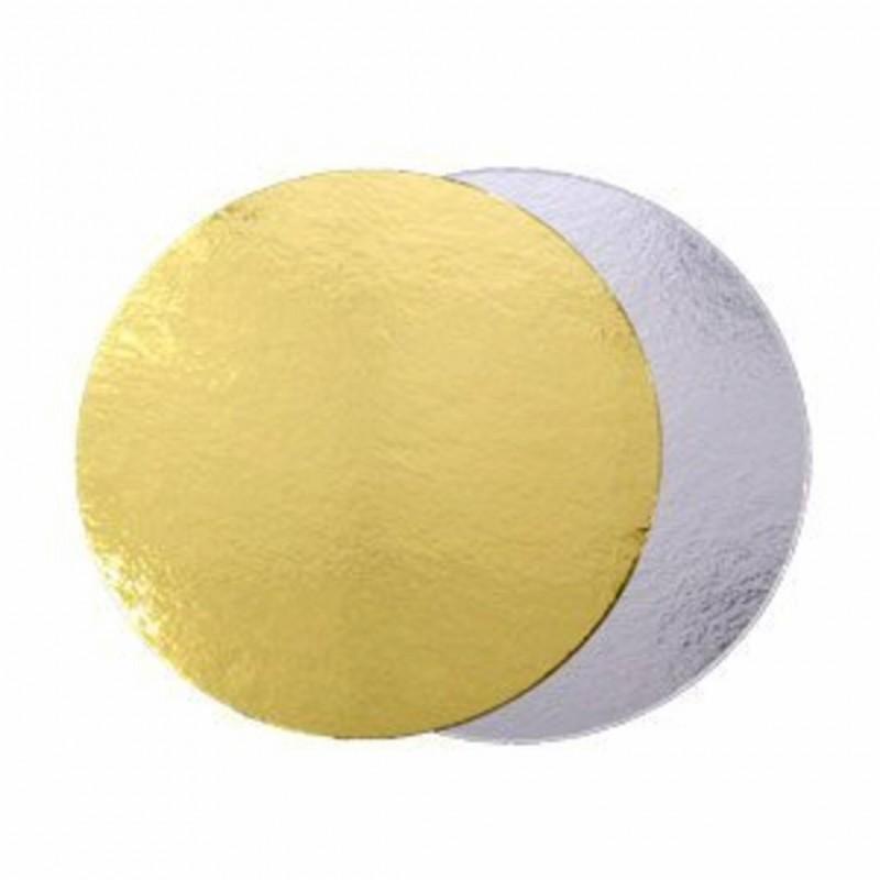 Подложка-экономка  двухсторонняя, 0,8 мм (золото/серебро), диаметр 30 см