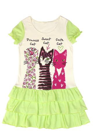 Basia Л905-3969 Платье для девочки лайм