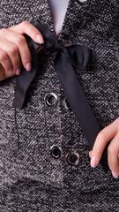 Рига. Офисный костюм двойка плюс сайз. Серый.