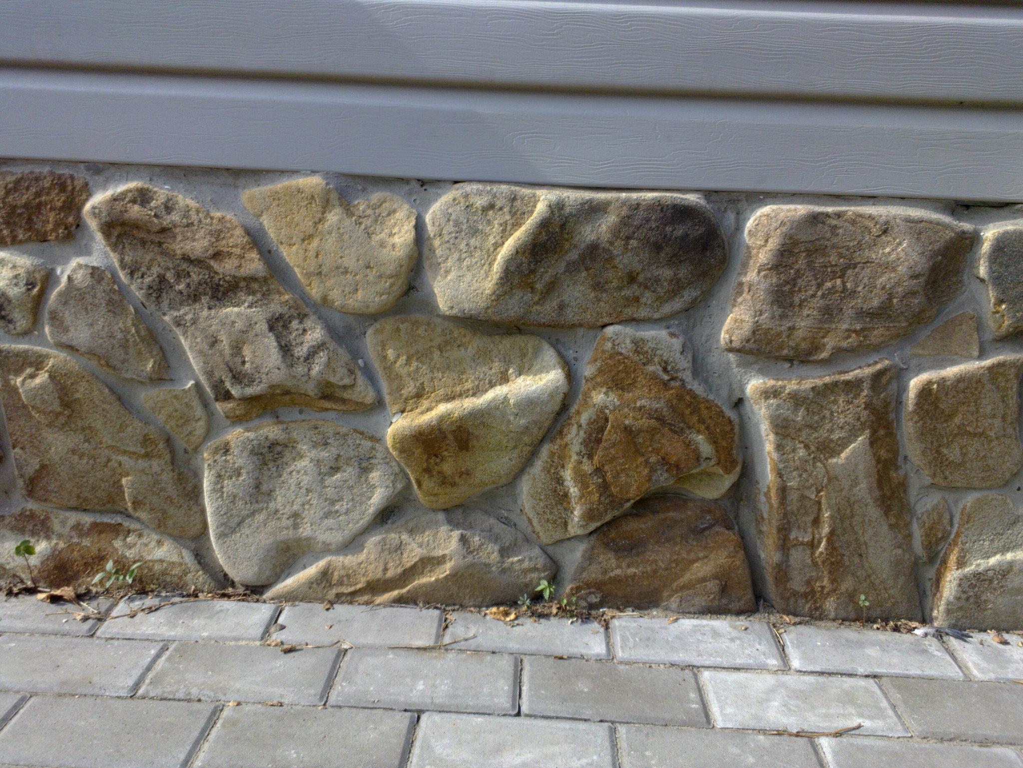 ясень бутовый камень окатанный, для облицовки