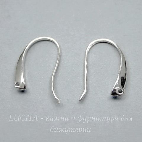 """Швензы - крючки """"Классика"""" (цвет - серебро) 19х12 мм"""