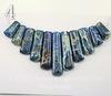 Комплект из 11 подвесок Яшма Императорская (прессов.,тониров) цвет - синий (Комплект №4)