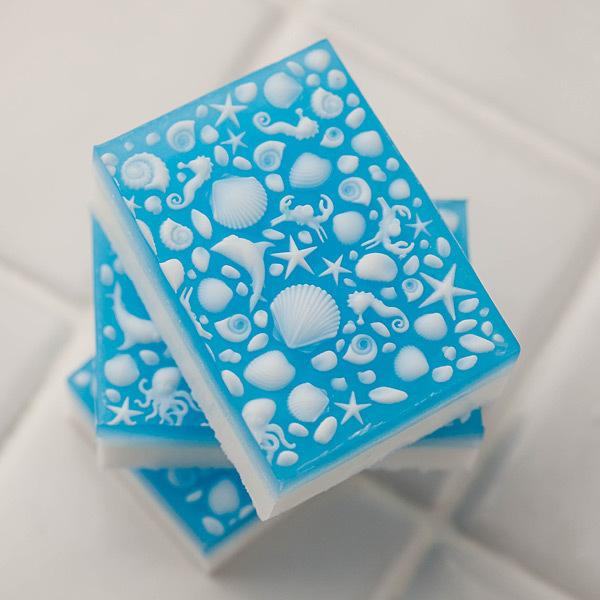 Мыло с текстурой. Лист текстурный Море