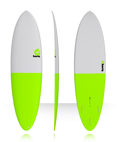 Серфборд TORQ 6'8'' Fun - Fifty Fifty (gray/green tail)