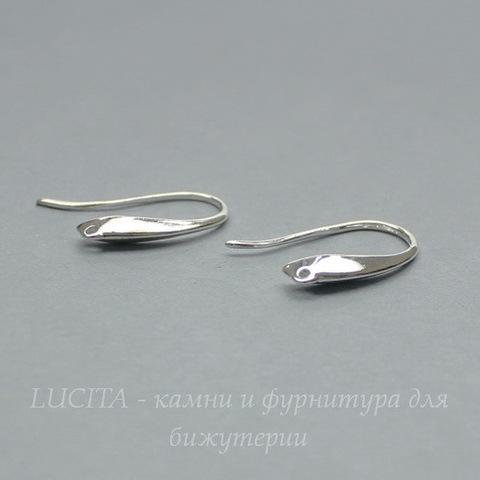 """Швензы - крючки """"Классика"""",19х12 мм (цвет - серебро), пара"""