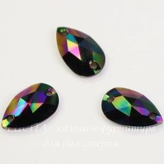 3230 Пришивные стразы Сваровски капля Crystal Rainbow Dark (12х7 мм)