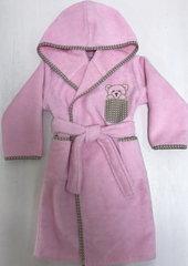 Детский  банный  махровый  халатик ТЕДДИ розовый