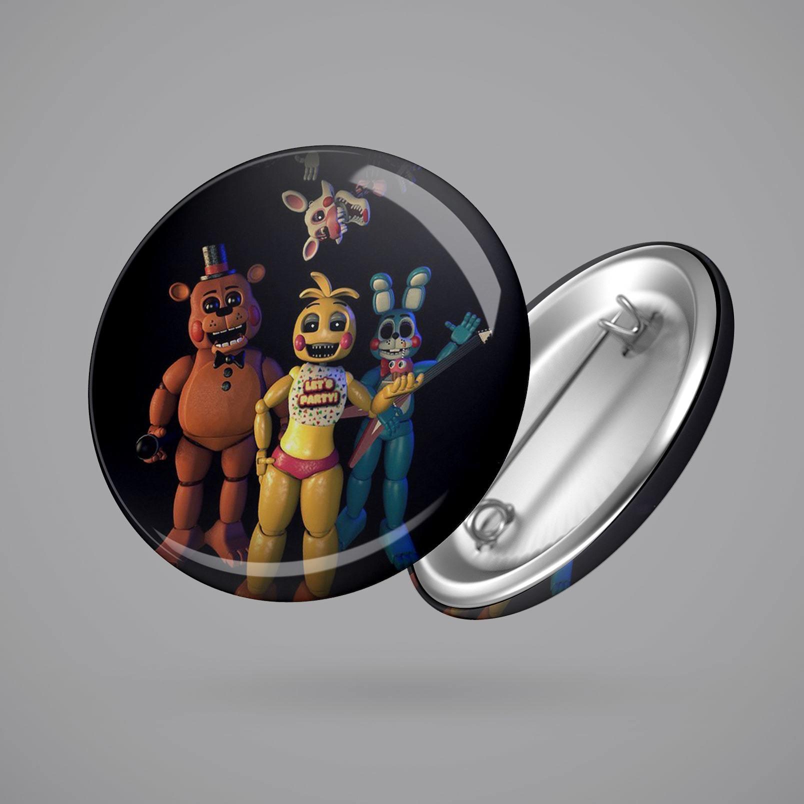 Значок с героями ФНАФ №1 - купить в интернет-магазине kinoshop24.ru