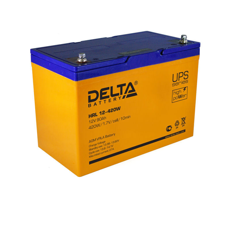 Необслуживаемые свинцово-кислотные аккумуляторы Delta HRL-W