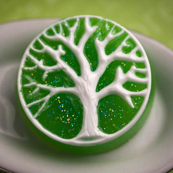 Мыло Дерево в круге. Форма пластиковая