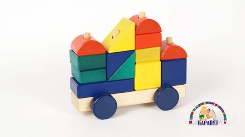 Конструктор - Машинка деревянный