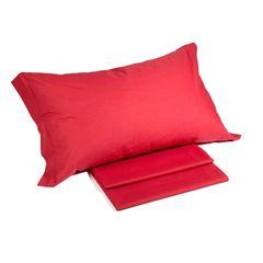 Наволочки 2шт 52х82 Caleffi Tinta Unita красные