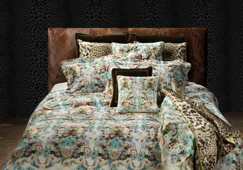 Постельное белье 2 спальное Roberto Cavalli Meissen белое