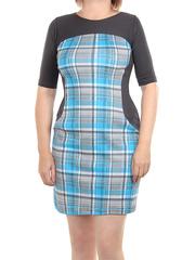 105-2 платье женское, серое