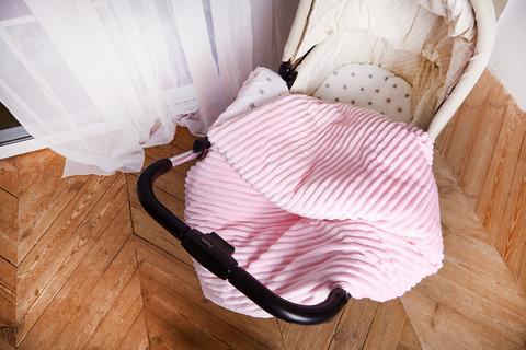 Постельное белье для коляски ПЛЮС Розовый