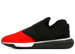 Кроссовки Мужские Y-3 Qasa Racer Low Red Black Suede Edition