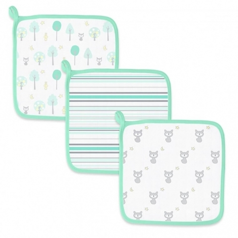 Детские мочалки SwaddleDesigns Green Woodland