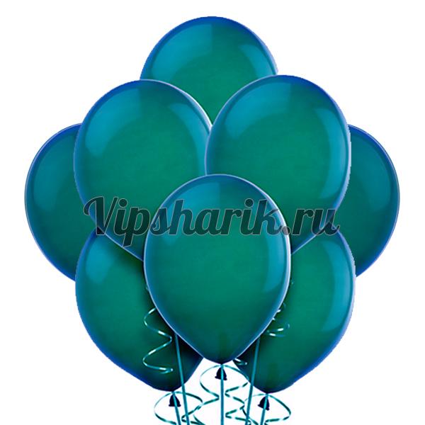 Зеленовато-голубые шары металлик
