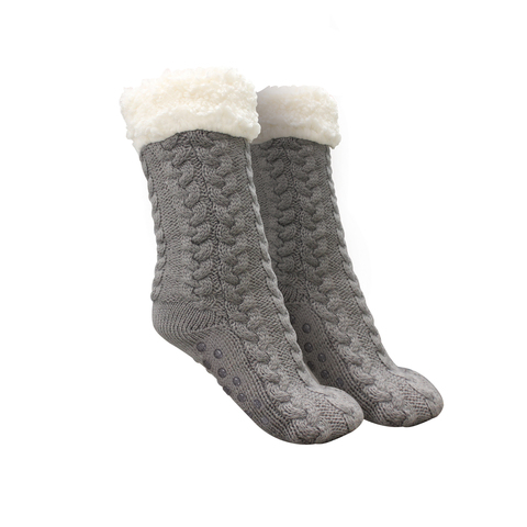 Новогодние ультра-плюшевые носочки с противоскользящими подошвами