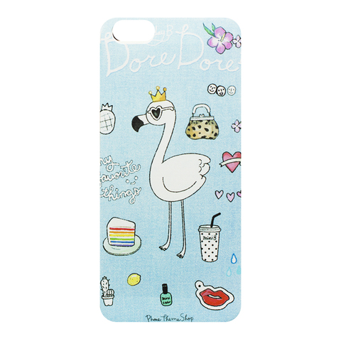 Чехол на IPhone 6/6S Blue Flamingo