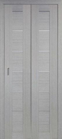 > Экошпон складная Optima Porte Турин 501АПП молдинг SC  (2 полотна), цвет дуб серый, глухая