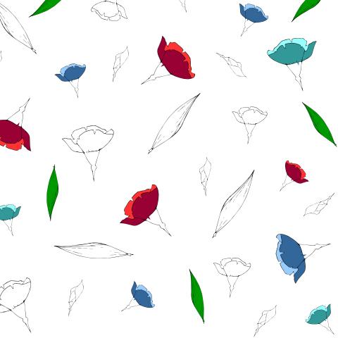 Гвоздики в цвете и черно-белые