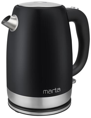 Чайник металлический MARTA MT-4560 черный жемчуг