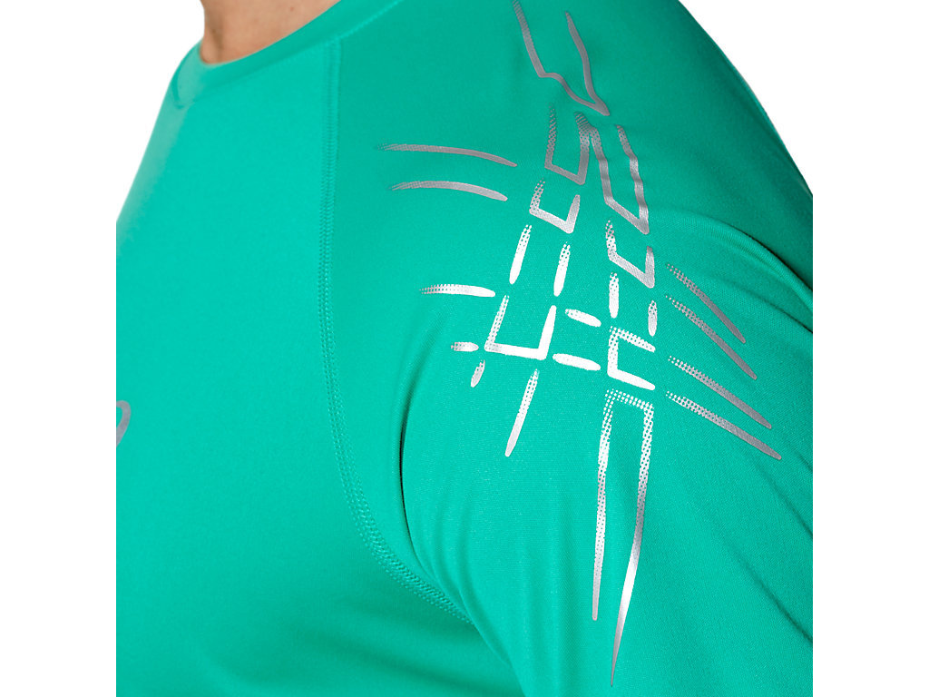 Мужская футболка для бега Asics Stripe SS (126236 4005) бирюзовый