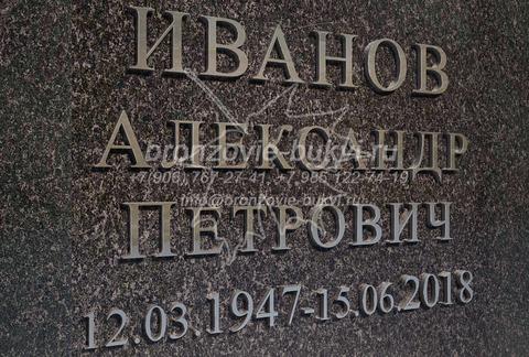 ФИО на памятник из нержавеющей стали. Академический шрифт (с засечками).