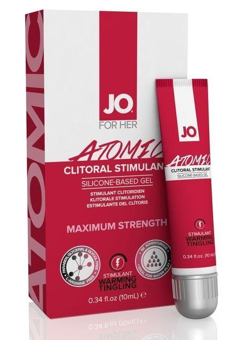 Возбуждающие: Возбуждающий гель для клитора мощного действия JO CLITORAL ATOMIC - 10 мл.