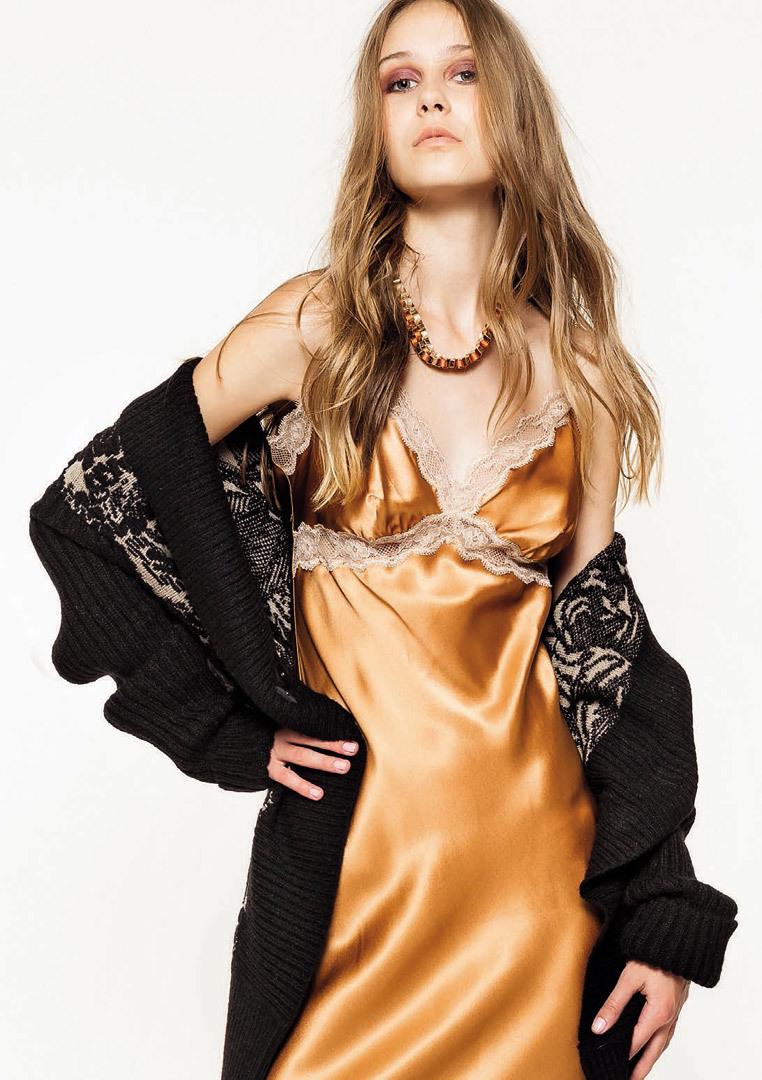f7f164059f5f8bf Шелковая ночная сорочка Twin-Set — Нежная одежда
