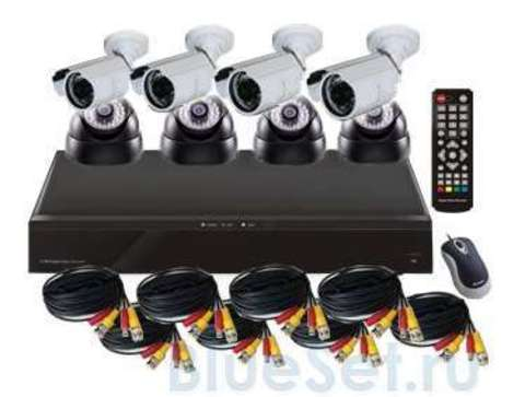 Mobidick  Комплект для видеонаблюдения: DVR, 4 камеры для помещений + 4 уличные камеры SWDVR8DB