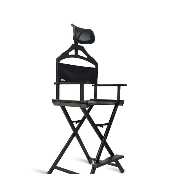 Разборный стул визажиста из алюминия с подголовником фото