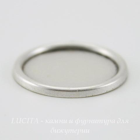 Сеттинг - основа - подвеска для камеи или кабошона 18 мм (оксид серебра)