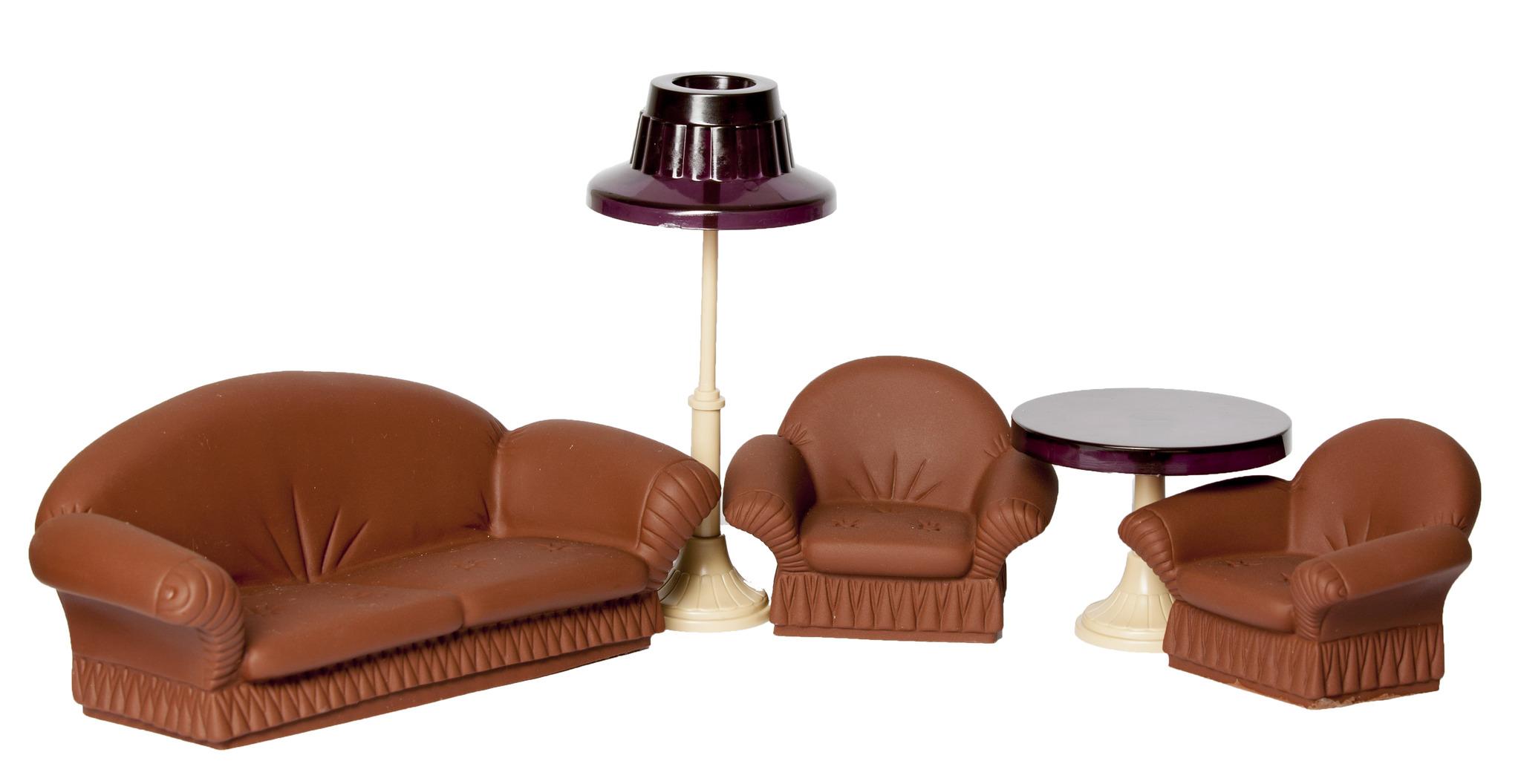 Мягкая мебель для кукол Огонек для гостиной