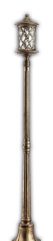 Светильник садово-парковый, 100W 220V E27 черное золото , IP44 , PL5037 (Feron)