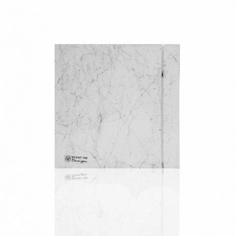 Вентилятор накладной S&P Silent 100 CRZ Design 4С Marble White (таймер)