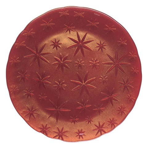 Stars Charger Plate Red