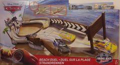 Disney Pixar Cars ~ Beach Duel Playset ~ Includes Jackson Storm & Dinoco Cruz