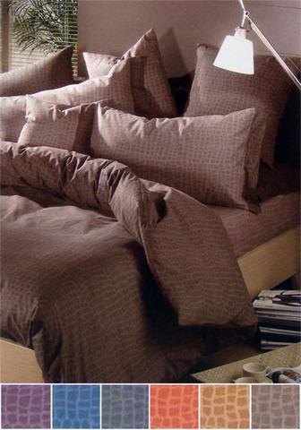 Постельное белье 2 спальное евро Caleffi Сocco серое