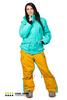 Сноубордический комбинезон женский Cool Zone 3в1 (2912-28) бирюза-песочный