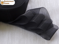 Органза 38  мм черная