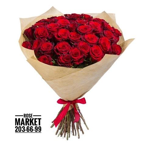 51 красная роза 70 см (PBFlora)  #14556