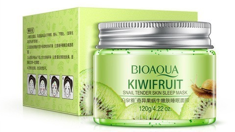 Ночная маска для лица Bioaqua Kiwifruit Snail tender skin sleep mask