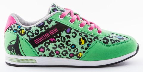 Кроссовки Монстер Хай (Monster High) на липучке для девочек, цвет зеленый. Изображение 1 из 8.