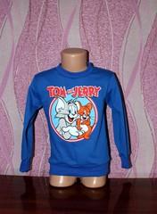 Детский реглан Том и Джери футер начесной