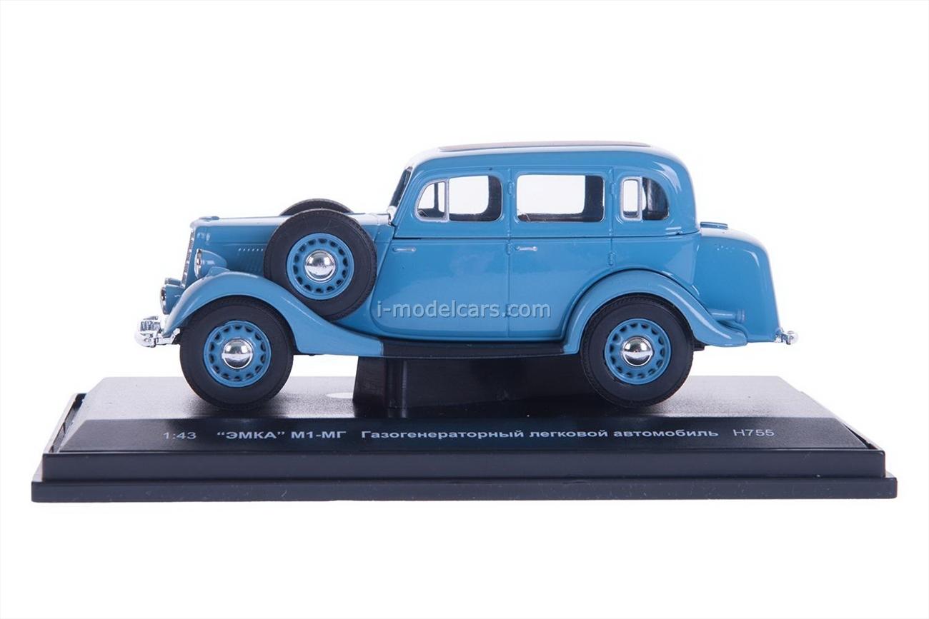 GAZ-M1-MG gasification blue 1:43 Nash Avtoprom