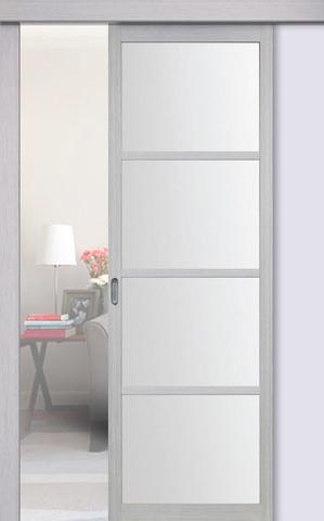 Перегородка межкомнатная Optima Porte 104.2222, стекло матовое, цвет дуб серый, остекленная (за 1 кв.м)