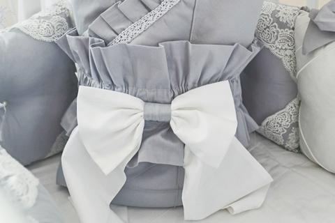 Бант на одеяло - конверт Gray